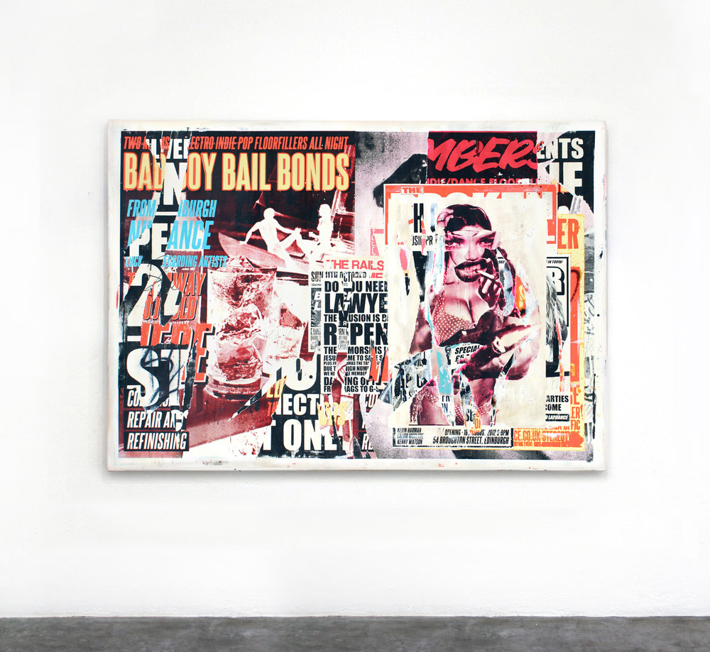 """bad boy bail bonds #2"" acrylic on panel 180 x 125cm 2013"