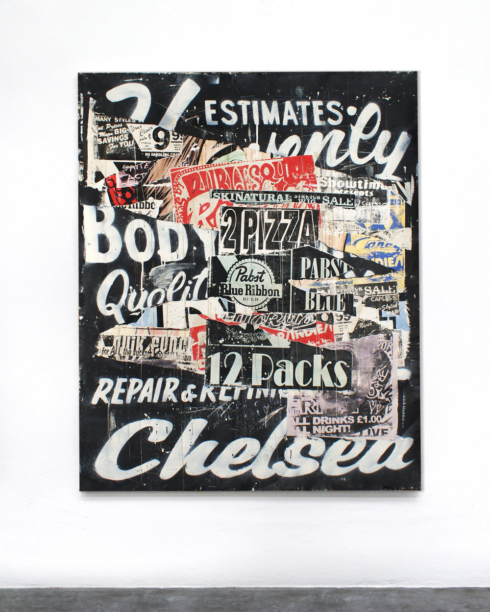 """chelsea"" acrylic on canvas 170 x 120cm 2011"