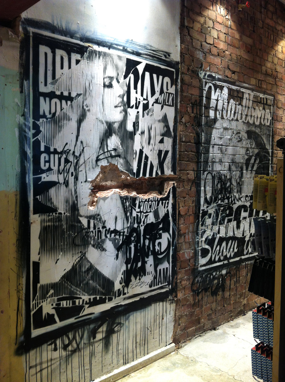 Urban Outfitters wall Nottingham 2013