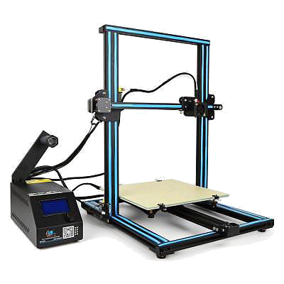 Creality CR-10 - The CR-10 is a large format FDM printer capable of printing objects up to 300mm x 300mm x 400mmIt is as capable as the Maker Gear M2 in all aspects except for dual extrusion. By being a single extrusion printer it is capable of printer larger parts much faster than the M2.The CR-10 is capable of printing many automotive parts in a single print allowing for functional end use parts for those who like a personal touch to their cars.