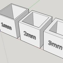 Wall Thickness - When designing a piece it is important to keep in mind that their is a minimum size that a printer can extrude, and if your design has a wall thickness not compatible with the printers extruder it simply cant be printed, and so designs may need to be edited to ensure printability