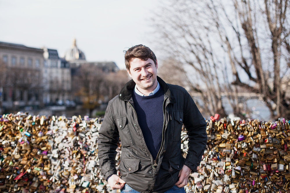 Lee on the Love Lock Bridge