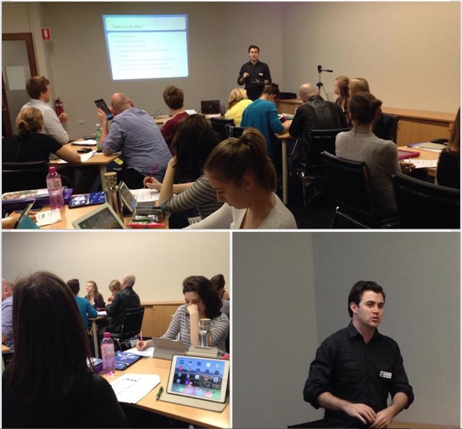 Matthew Leslie presenting at the New Educator Conference on Friday the 19th of September 2014