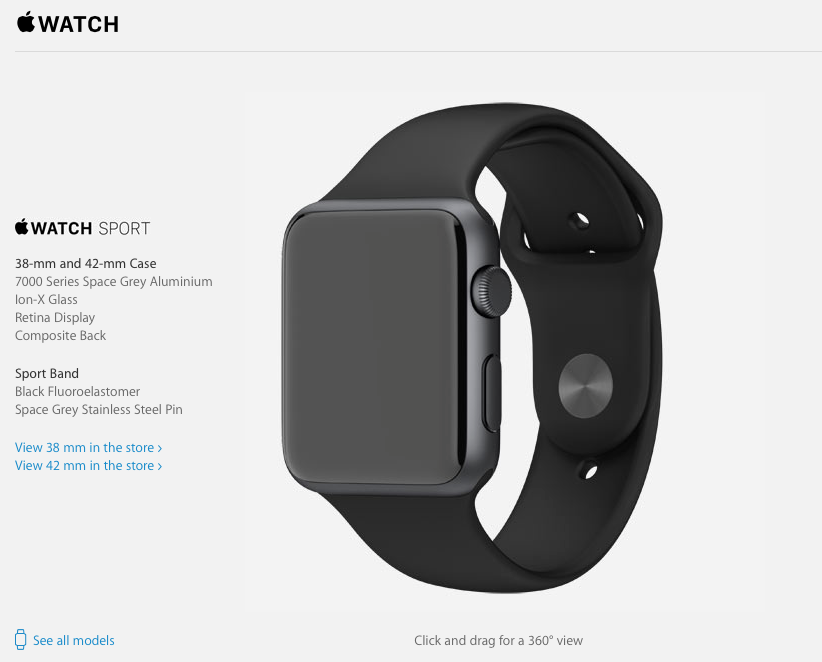 Apple Watch, Space Grey (38mm)