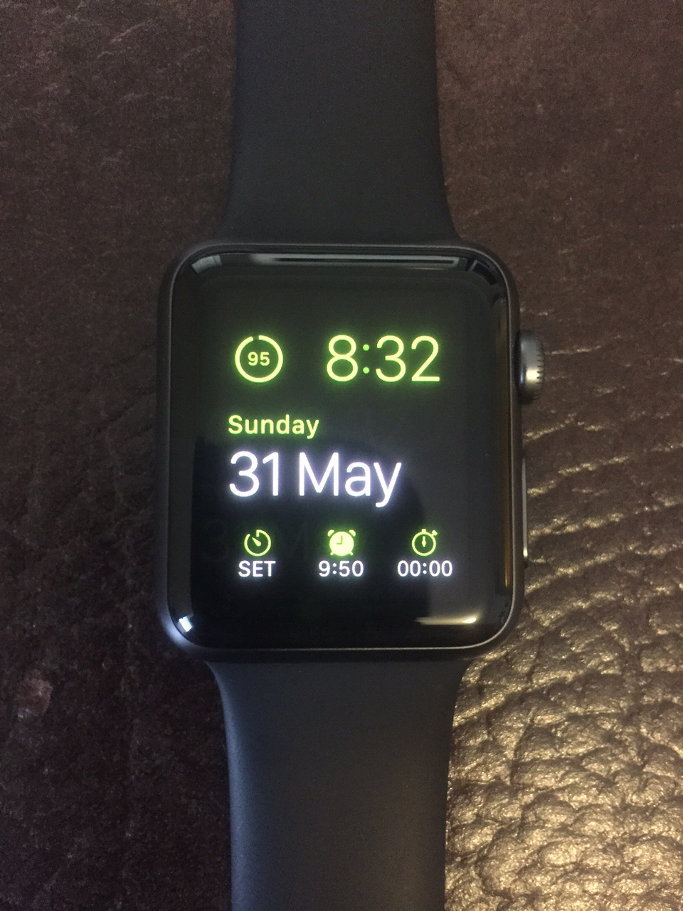 My Apple Watch with the modular watch face.