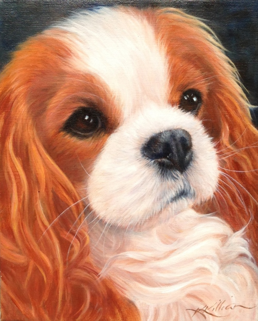 Dog & Horse Fine Art, Karen Killian, Cavalier, Blenheim.JPG