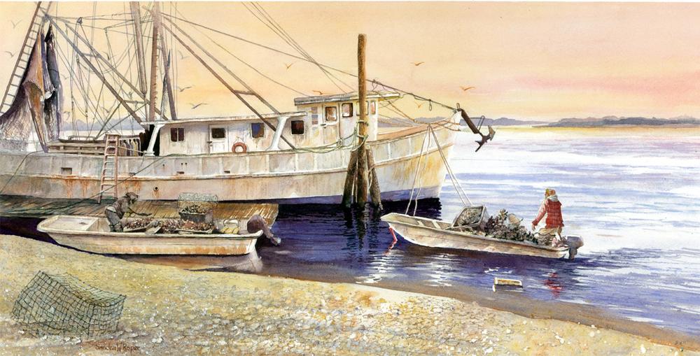 Harvesting Oysters, Bluffton, SC.JPG