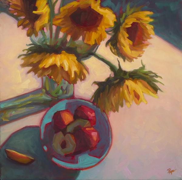 PapaT-Sunflowers&Nectarines20x20.jpg