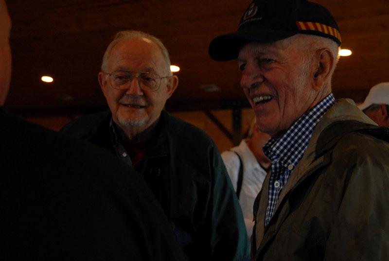 Maclean historian James Habek on left