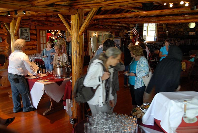 Wine tasting begins at Double Arrow Lodge