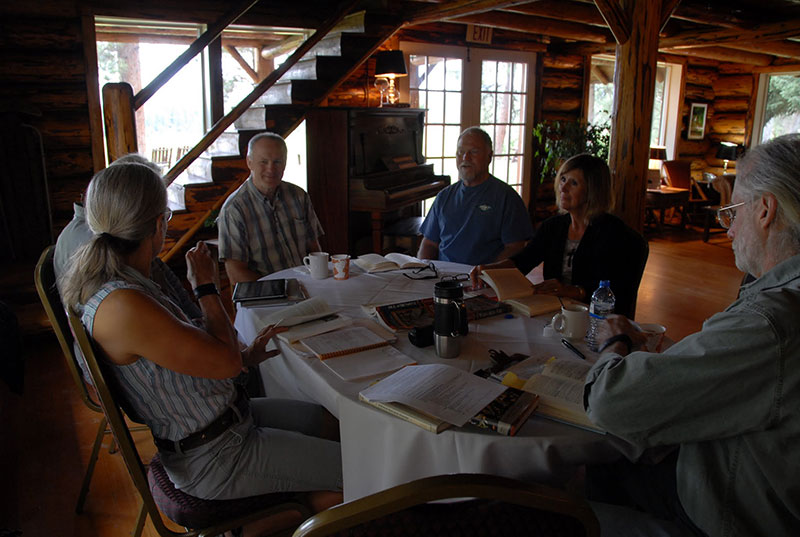 """Sunday morning session on """"A River Runs Through It"""" with Professors Amy and Charles  Elder"""