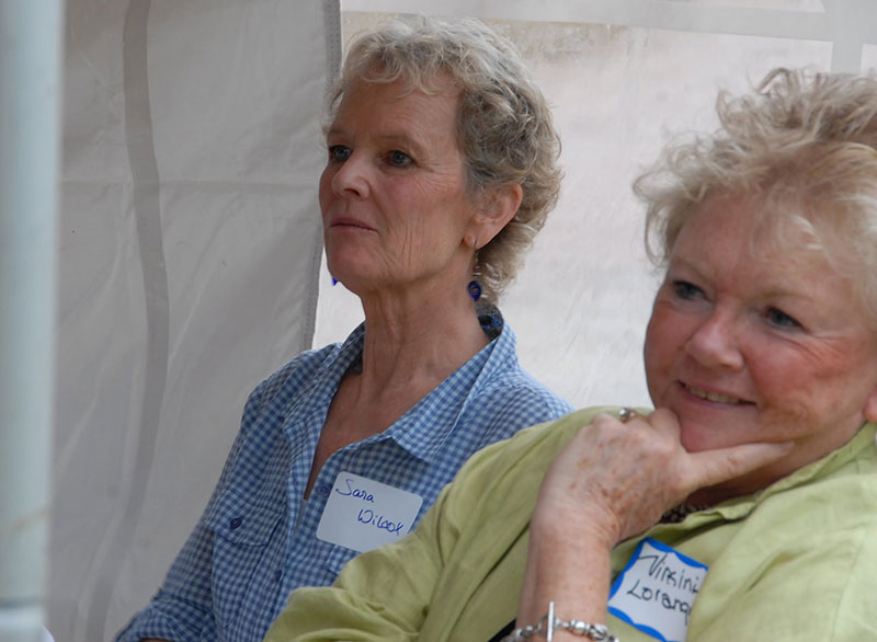 Festival founder Sara Wilcox with Maclean cousin Virginia Loranger
