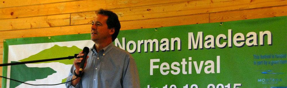 Governor Steve Bullock, Maclean Festival 2015. Image: Lindsay Atnip.
