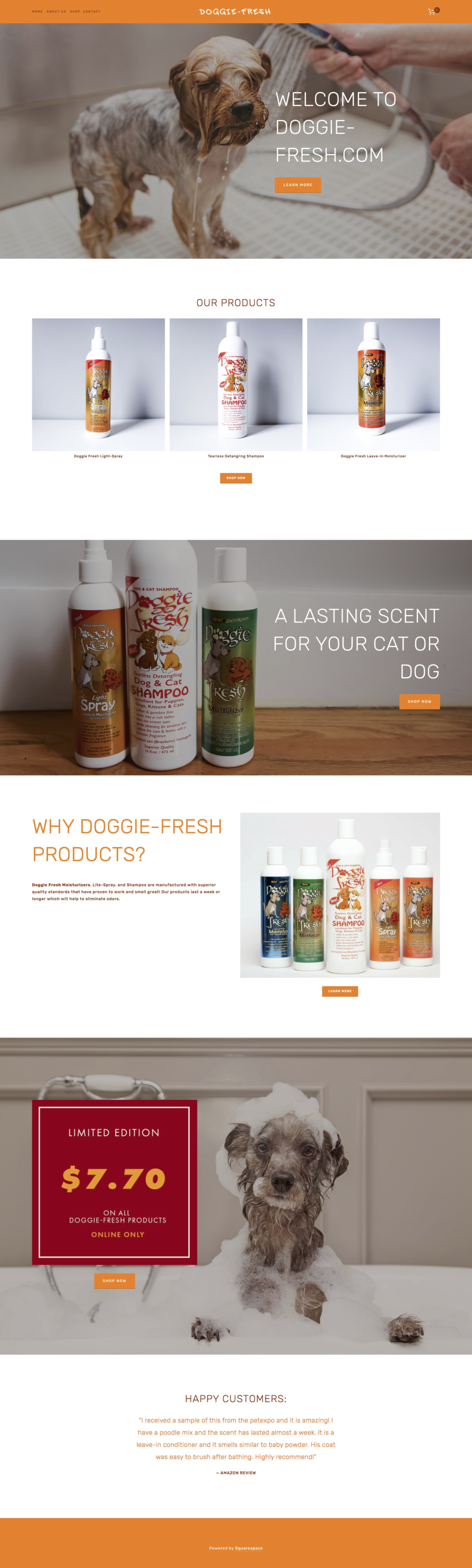 Doggie Fresh / Web Design