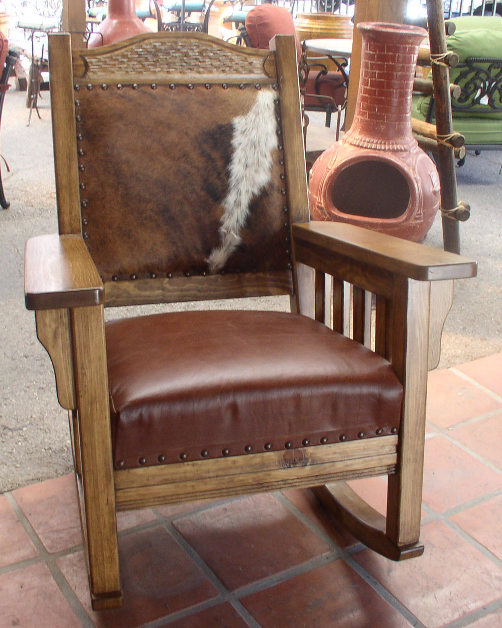 #953 ROCKER MEXICO FINE FINISH COWHIDE AND LEATHER 695..JPG
