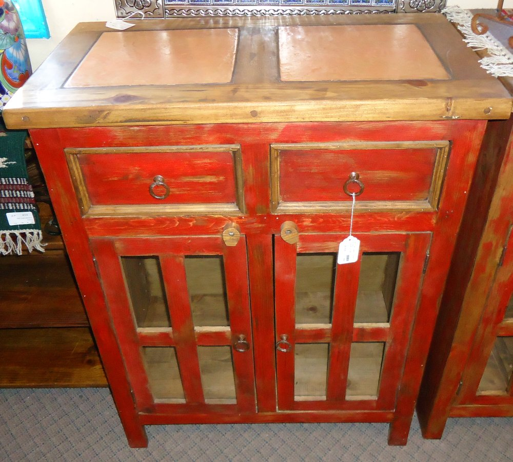 #434 SIDEBOARD 2 TILE RED 35X18X42 319..JPG