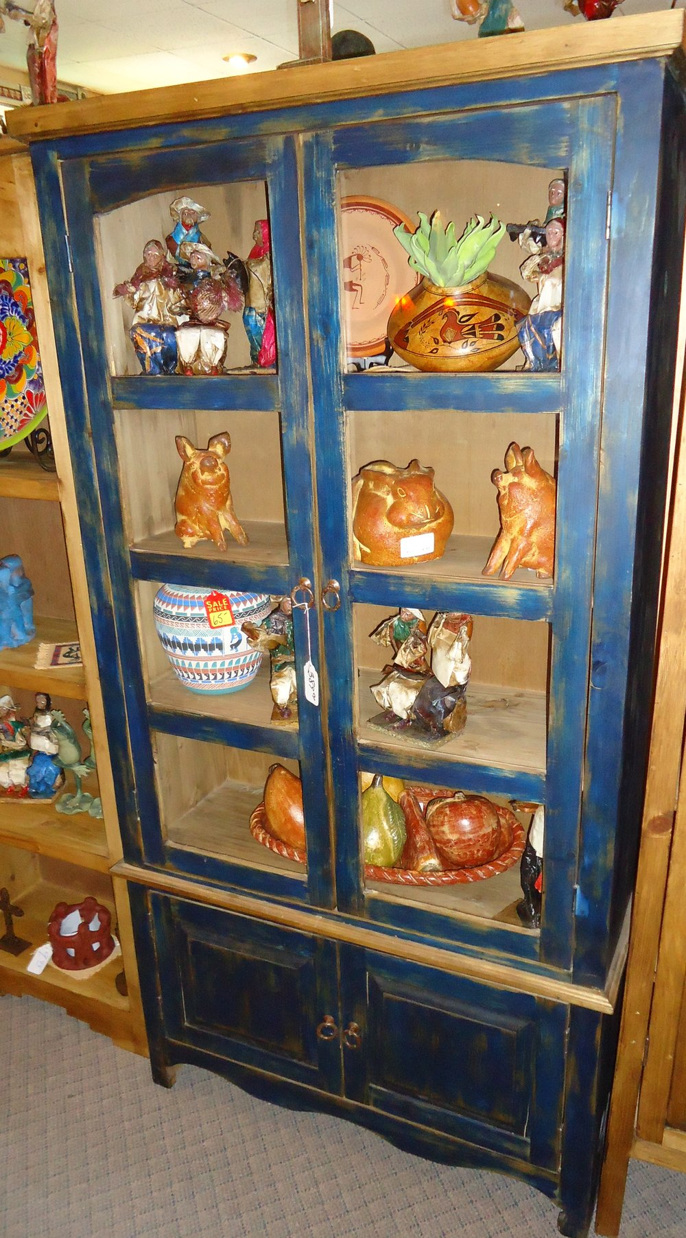 #4516 BOOK CHIHUAHUA GLASS BLUE 39 X 13 X 72 389..JPG
