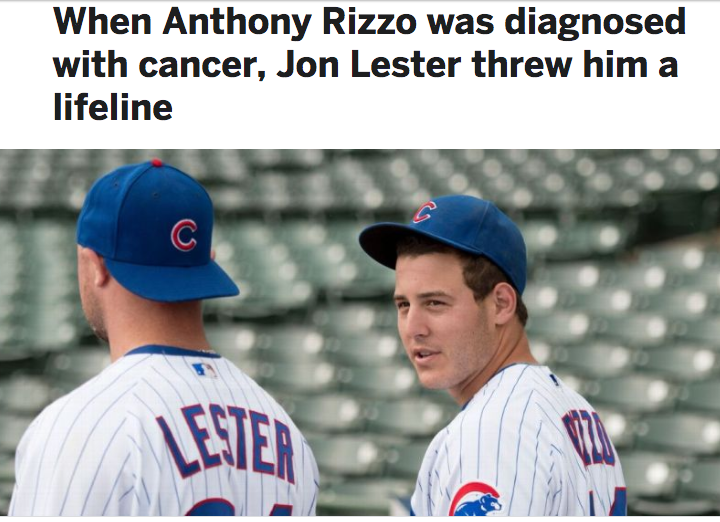 John Lester and Anthony Rizzo - Photo cred ESPN