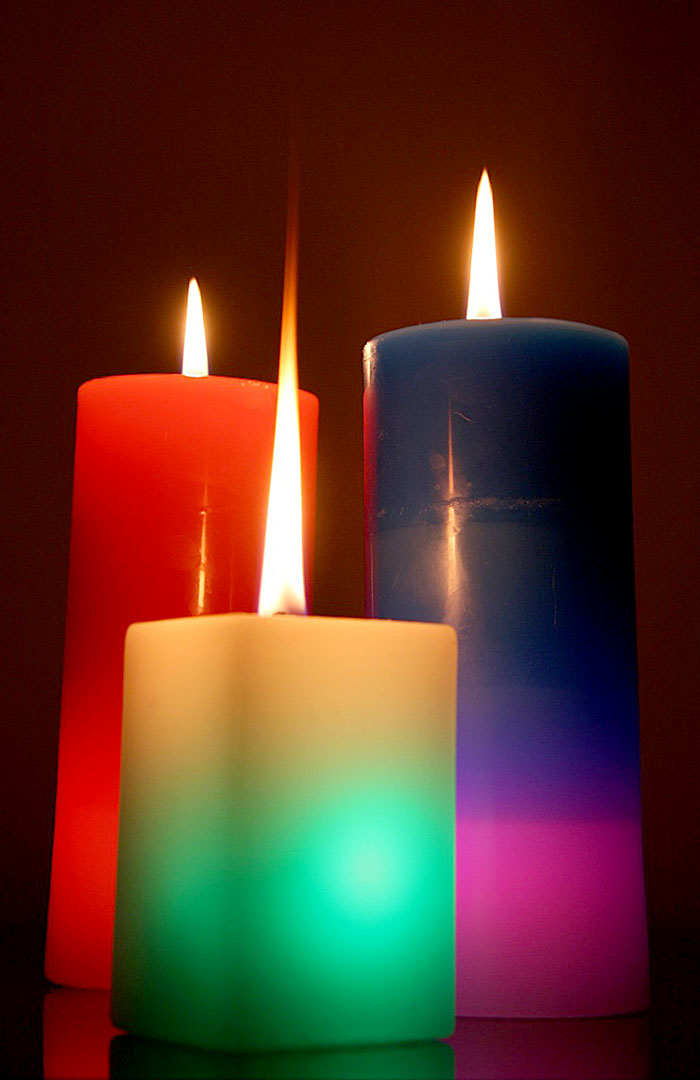 colorful-candles-burning