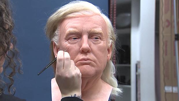 Madame Tussauds prepares donald trump statue
