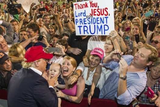 "This photo is not designed to suggest donald trump is ""the"" anti-christ, but illustrates my overall point."