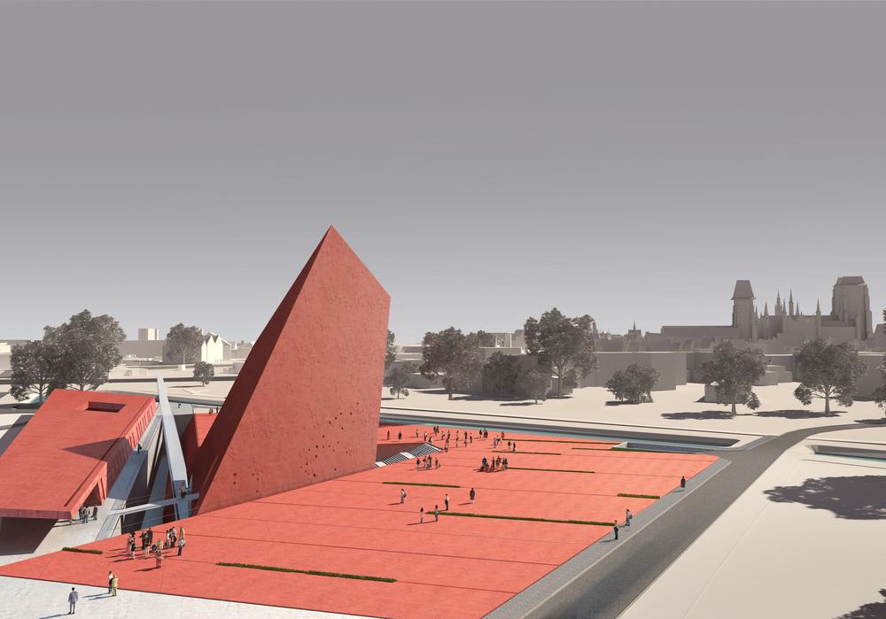 Wizualizacja architektoniczna przygotowana na konkurs