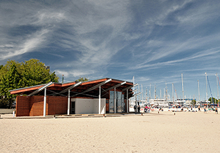 BEACH PAVILION IN GDYNIA