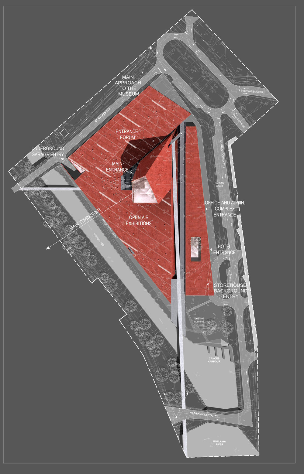 Site plan made for the competition