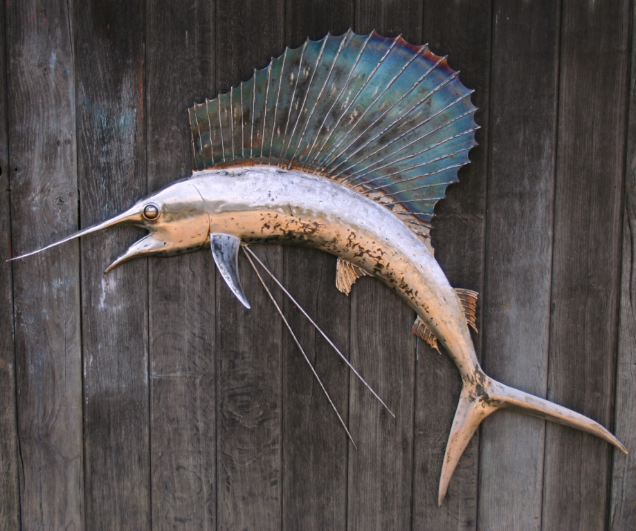Sailfish by Adam Boydell - forged mild steel 1370mm wide £4000  SOLD
