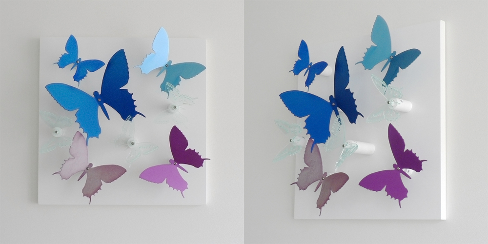 Anodised aluminium 'Butterfly Board' (blue / purple) - Large 400mm x 400mm - by Salina Somalya £360  Other colours and sizes available