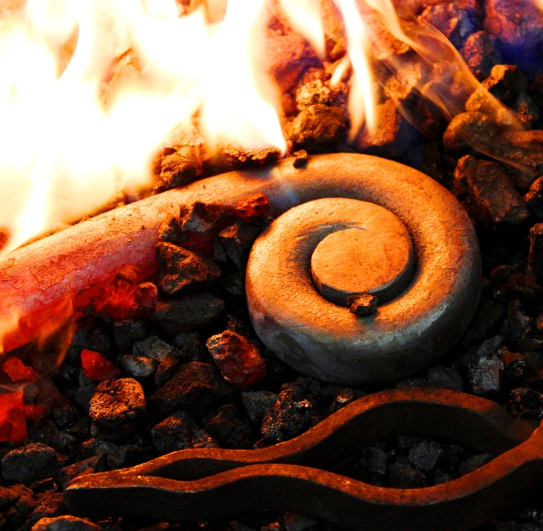 Hot-forging the shepherd's crook