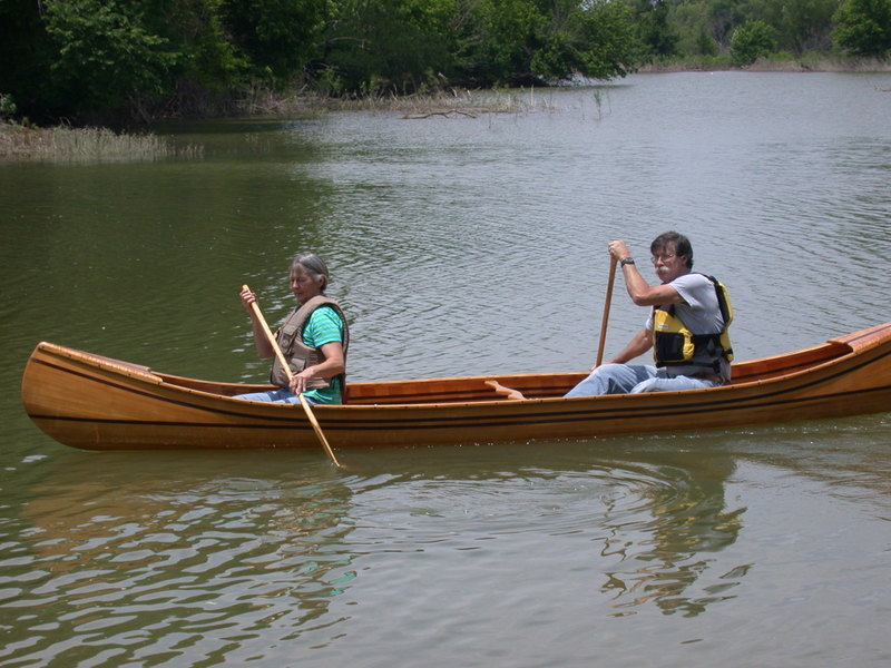 Canoe on the Brazos.  Julie and Carl on the first canoe voyage.