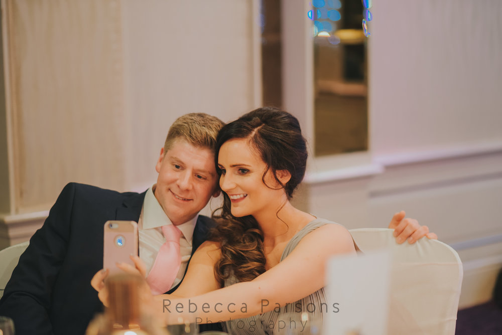 Bridesmaid taking a selfie