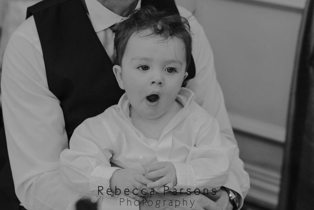 baby yawning black and white