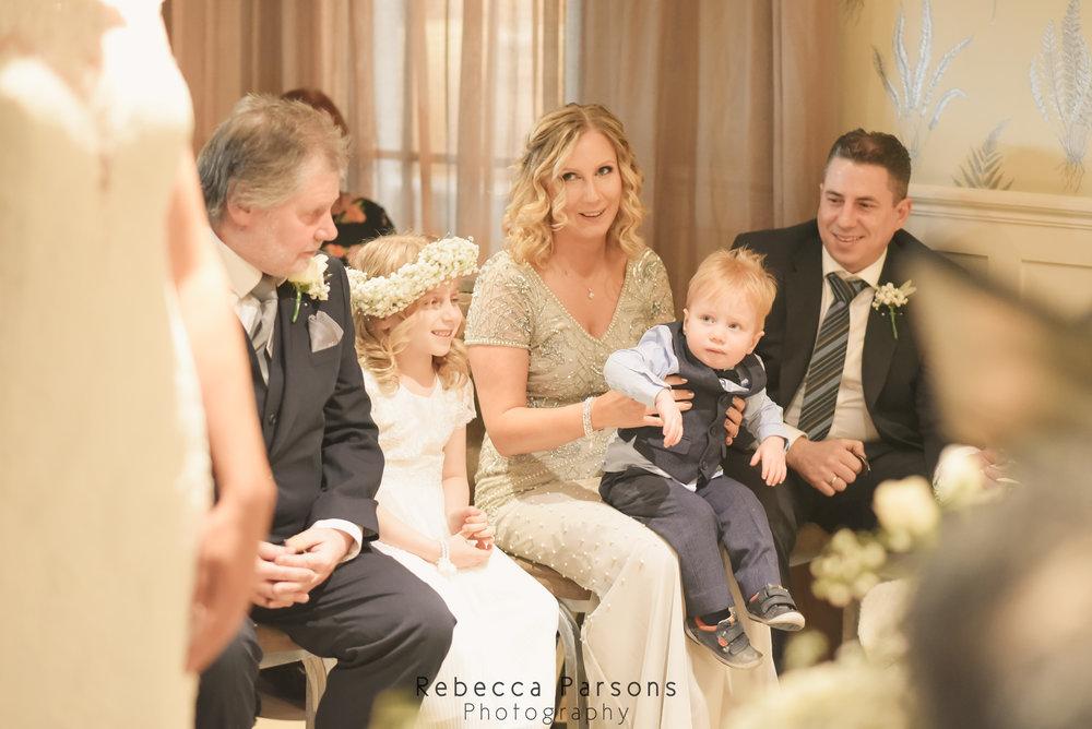 wedding party watching wedding