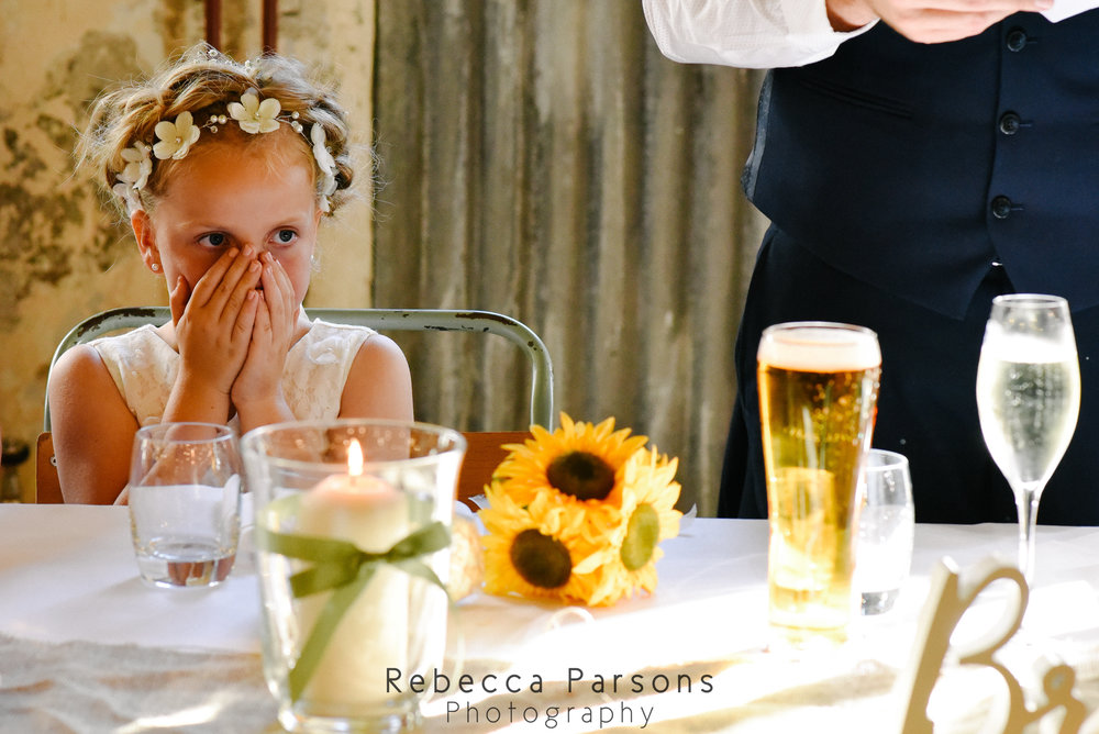 flower girl with hands over face