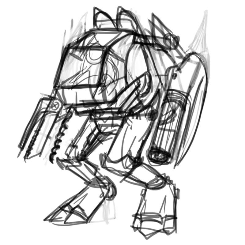 Robot Sketch Drawing Robot Drawing