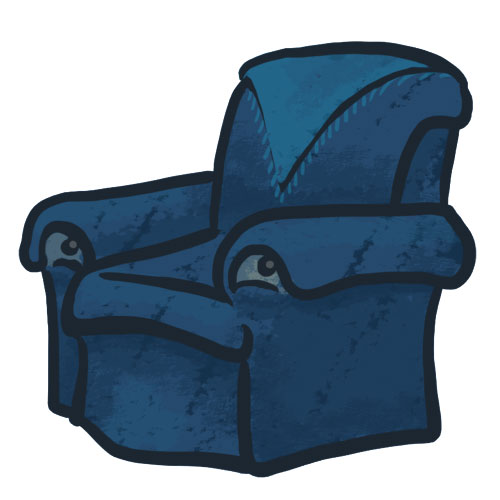comfy chair drawing