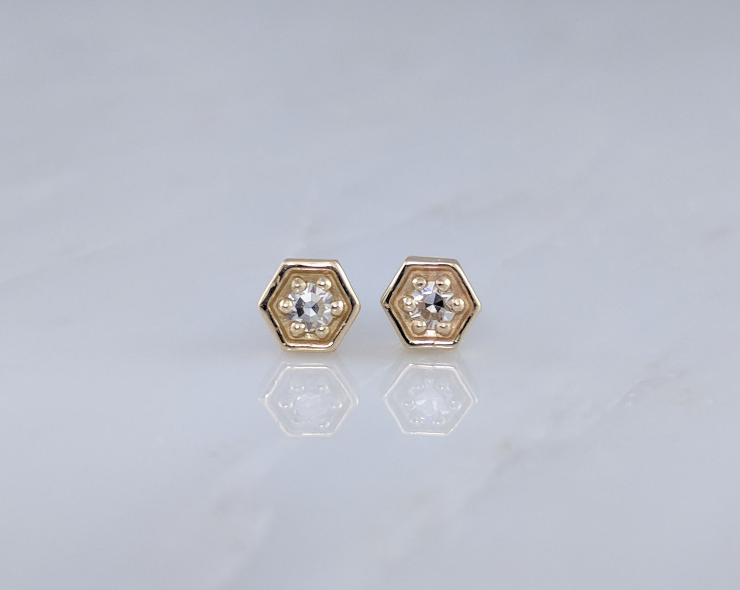 tanya lane champagne treasures stud jackets diamond pierced studs natural ruby gold item e s