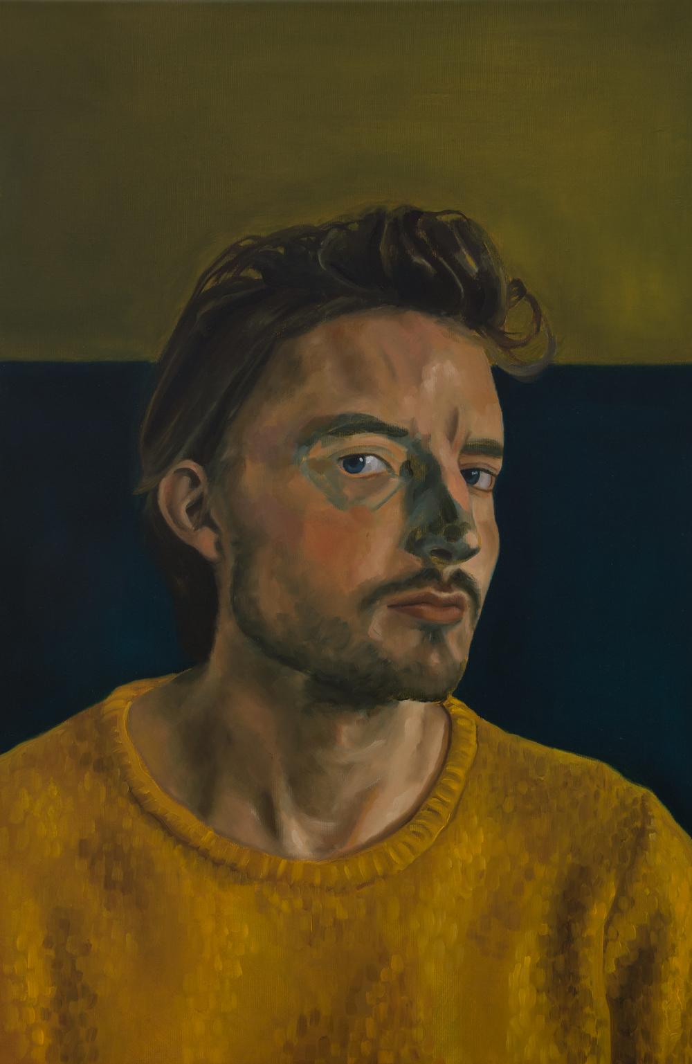 Geschilderd Portret - Maarten - Acryl en Olie op doek