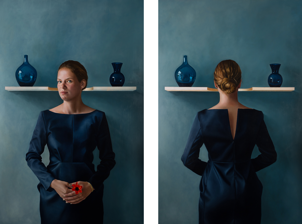 BLUE - Diptych (sold)  Oil on board (100 x 63)
