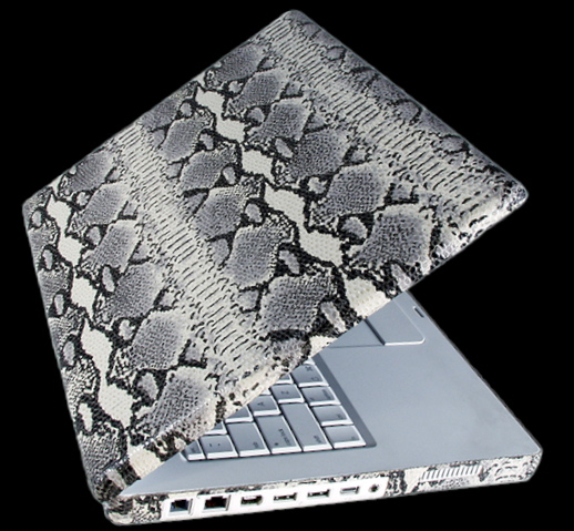 fake snake laptop cover