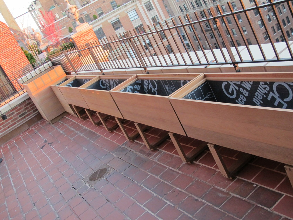Ipe planters,greenwich village NYC