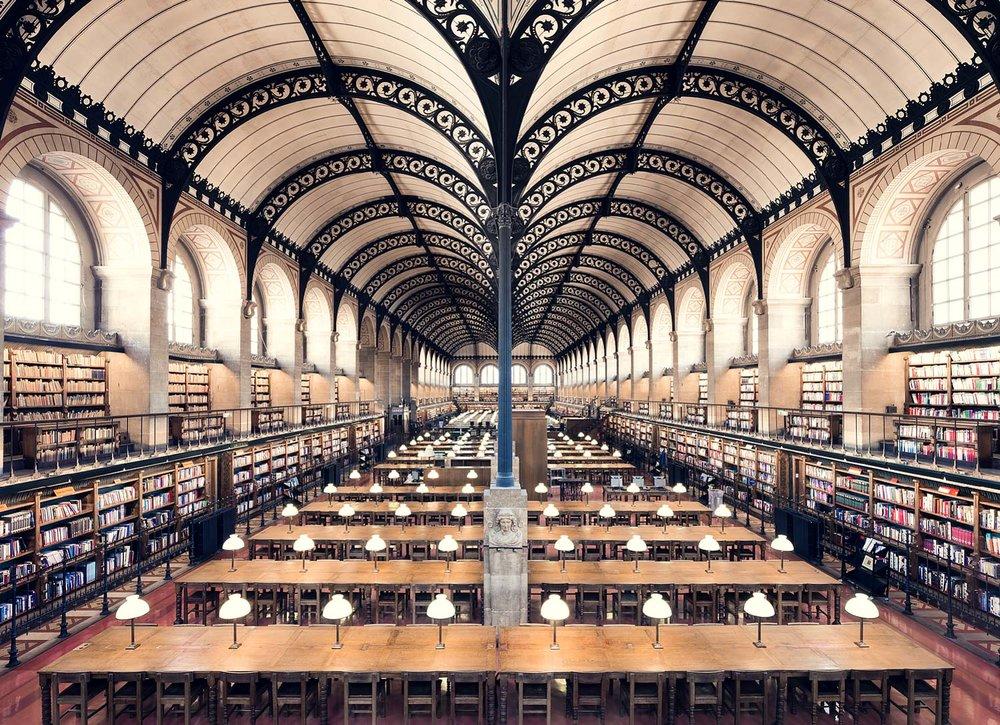Bibliothèque Sainte-Geneviève, Paris, 1850