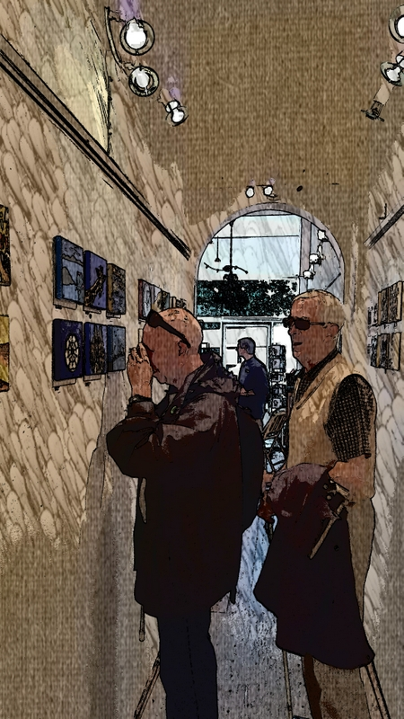 Members of the Scottish War Blinded visiting the exhibition