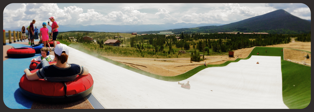The summer tubing hill at Snow Mountain Ranch in Granby, Colo., is one of only three in the U.S.   Photo by Michael Mundt