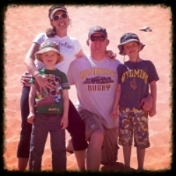 My friend Kate and her family on her kids' spring break 2015 trip to Moab, Utah.