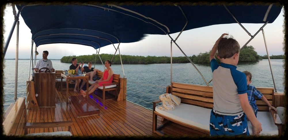 Finishing off our stay in Placencia with a sunset cruise out of Turtle Inn.