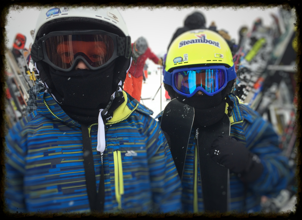 Our little shredders preparing for ski school at Steamboat Springs Ski Resort. Photo by Michael Mundt