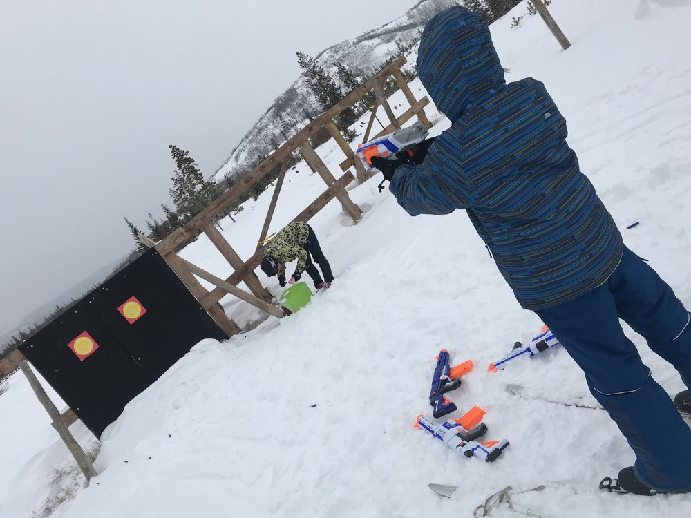 Participating in the Nerf-gun biathlon as part of Snow Mountain Ranch's Olympic-themed weekends, through February.